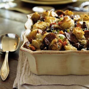 Herbed Bread Stuffing with Mushrooms and Sausage | MyRecipes.com