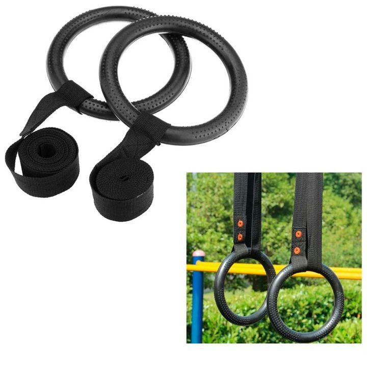 2Pcs Nylon Portable Gymnastic Fitness Rings for Strength Training