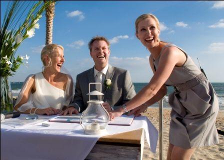 With Penny and Richard at the Sandbar Beach Cafe.    Sally Hughes, Melbourne Marriage Celebrant and ABIA Winner 2013.  www.wordsandmusic.net.au  Photo: Jesse Cranfield Photography