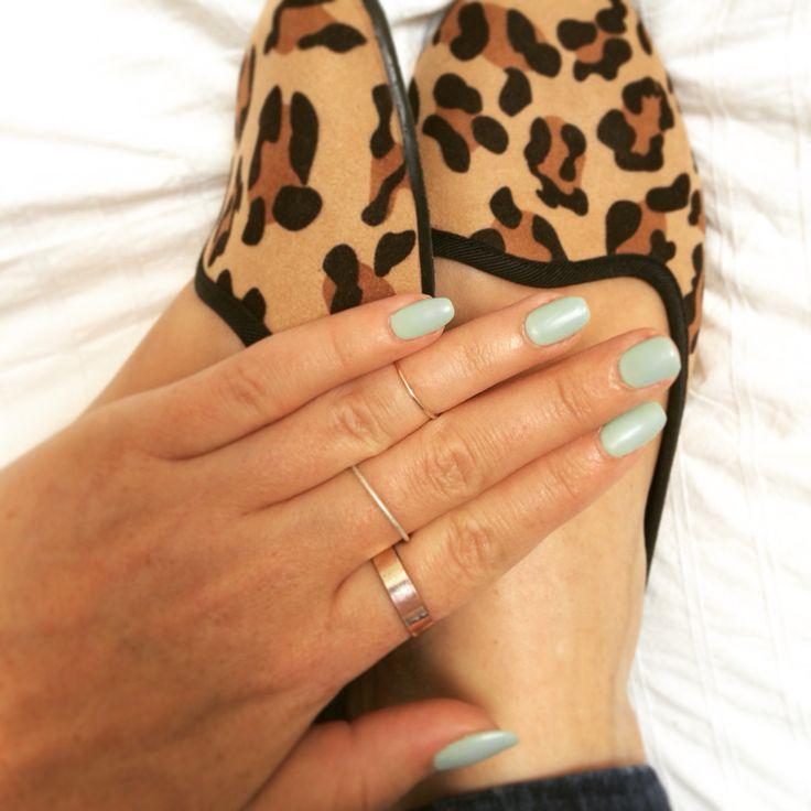 Mint green pastel ice cream nails