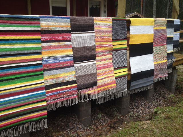 Liljan Lumo: Cottage rag rugs made and designed by Liljan Lumo/ Tiina Lilja Räsymattoja kesämökille, kesämökki, räsymatto