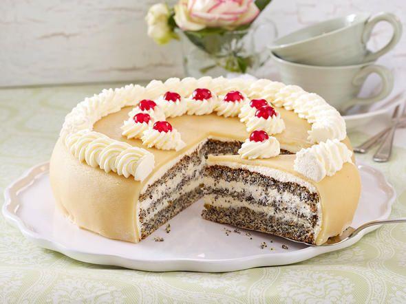 Mohn-Marzipan-Torte - Schritt 12: