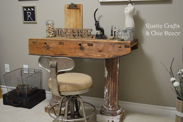 Diy desk by rustic crafts com rustic crafts pinterest