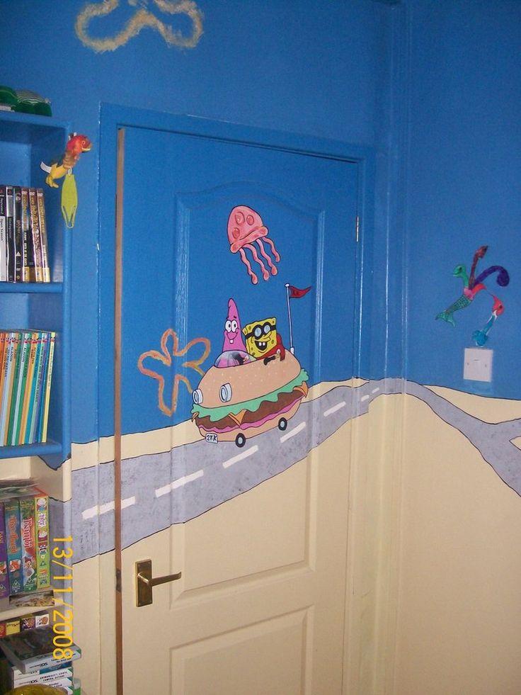 Funny Spongebob Squarepants Kids Room Designs   Wonderful Kids Room  Decoration with Funny Spongebob Squarepants Wall. 20 best Home Kurt Kye Kohl new room ideas images on Pinterest