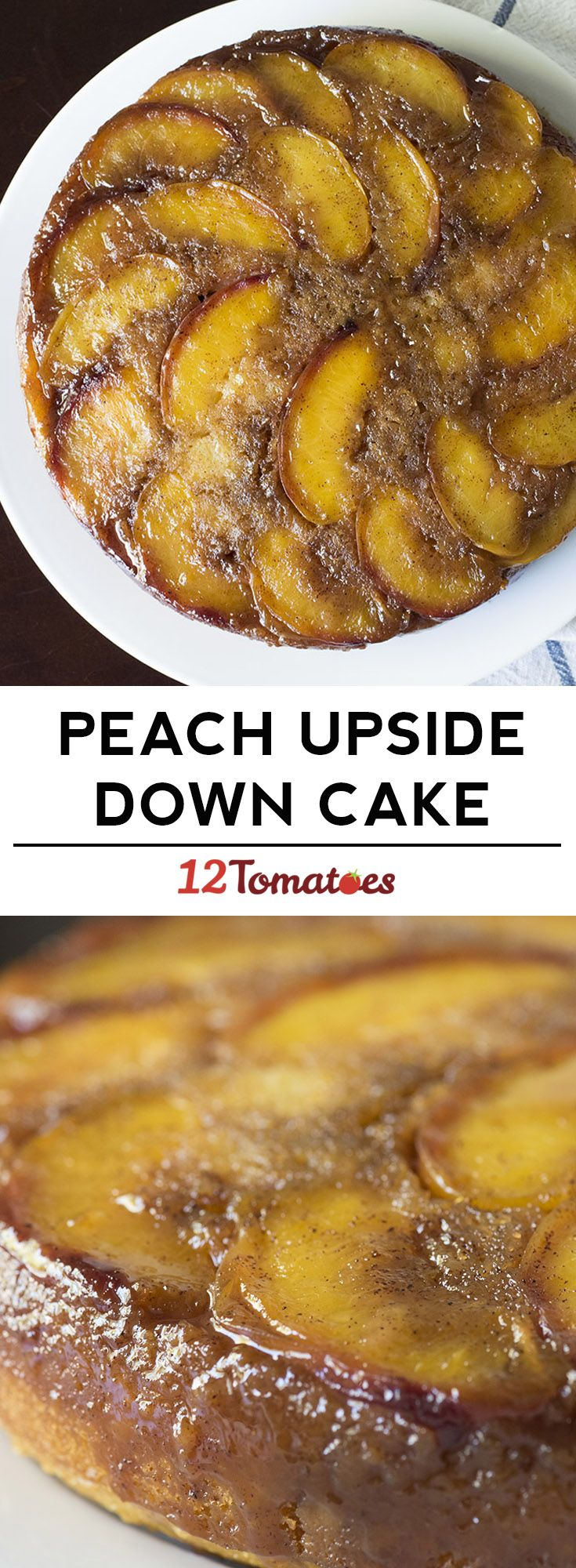 Peach upside down cake! One of our favorite coffee cakes.