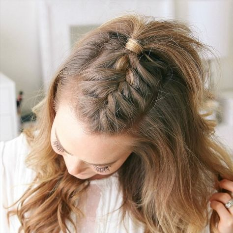 "Melissa Cook (Missy) on Instagram: ""French Mohawk Braid 🎥 Tag a friend 👭 that would love this style! Full hair tutorial link in my bio! 👉🏼 @missysueblog 💕 #missysueblog """