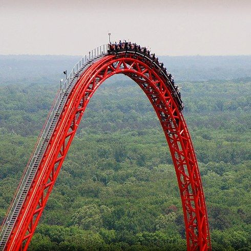 Be brave and conquer the Intimidator 305 at Kings Dominion Park in Virginia. | 11 Amusement Rides You Must Go On Before You Die