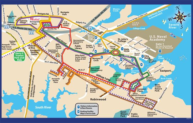 Annapolis Tranist Bus Routes and Schedules Map