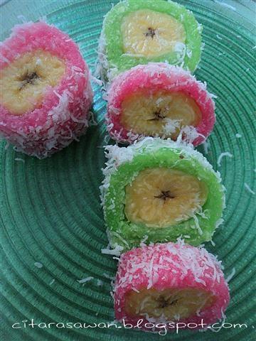 Recipes today - Kuih Pisang Gulung Ubikayu