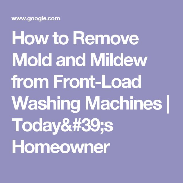 how to clean mold from front loading washing machine