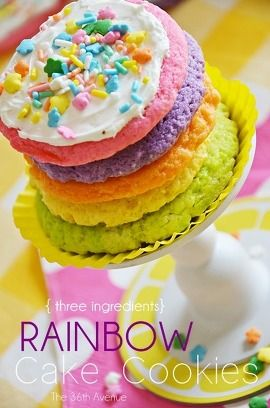 Rainbow Cake Mix Cookies Recipe by The 36th Avenue | Maypurr
