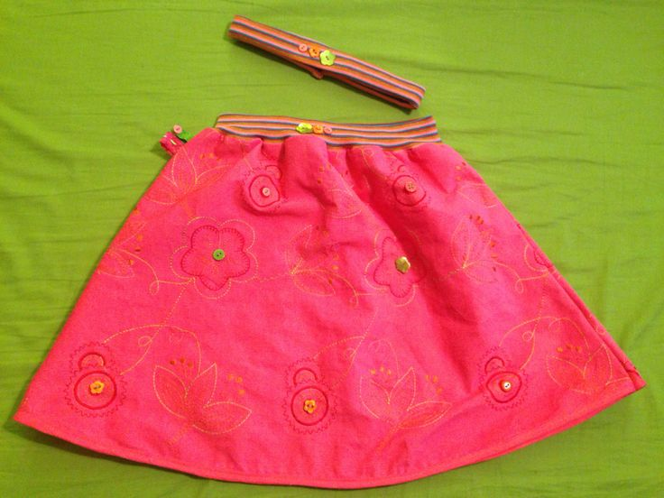 Pink skirt and head band ;)