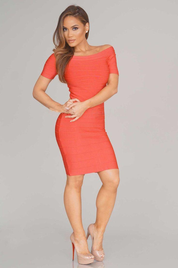 Bobbi Bandage Dress - Rose