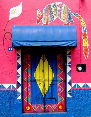 Colorful door. Mexico