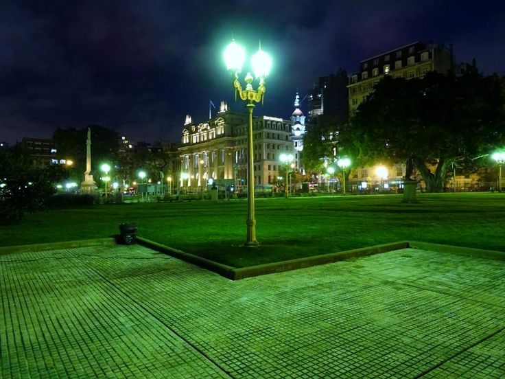 Buenos Aires, Behind Teatro Colon - Night Time  by A Place to Retire