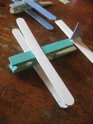 transportation unit and clothespin airplane craft.