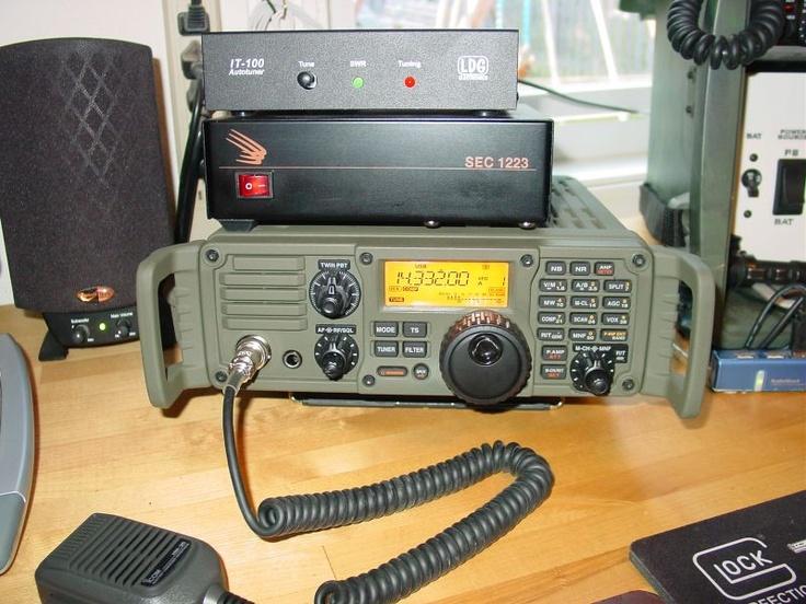 I-Com 7000 HF Radio in Military Green