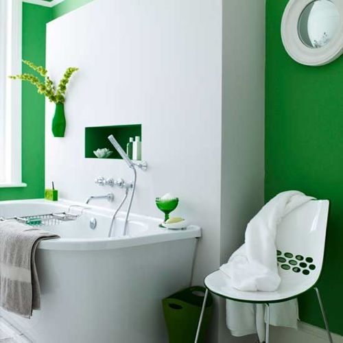 Greenredyellow yellow bathroom green and yellow bathroom for Green bathroom paint colors