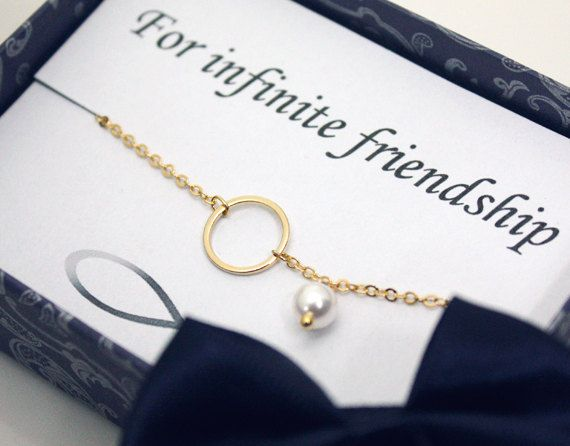 Friendship bracelet   Infinity card & karma by ElliesButton, $16.50