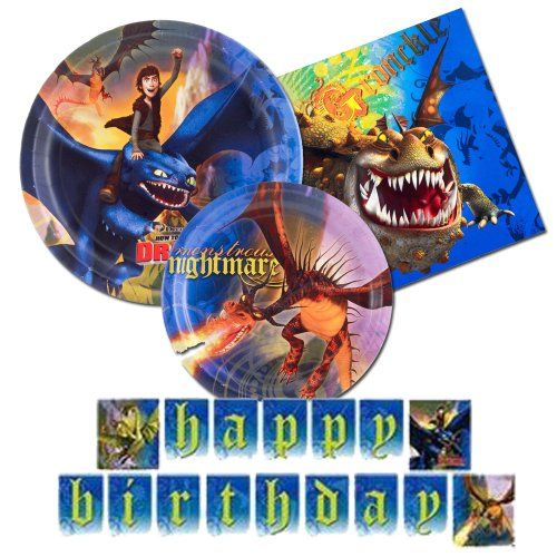 13 best how to train your dragon party images on pinterest dragon how to train your dragon party supplies 4 items party pack plates napkins banner bestseller ccuart Image collections