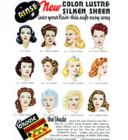 cute hair styles from the 1940's