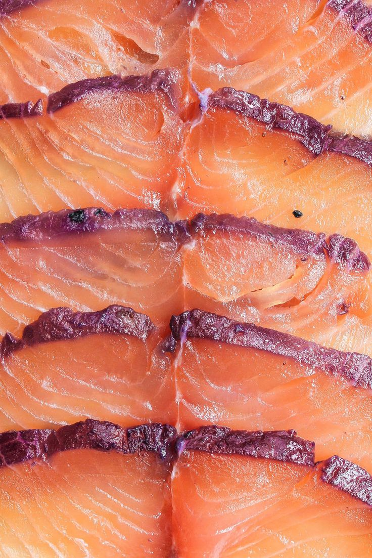 Blueberry Tarragon Gravlax    Easy curing recipe for salmon that is delicious and a rich shade of purple. Gravlax (lox or cured salmon) is perfect with bagels, rye bread, cream cheese, fresh vegetables, crackers, herbs, pickled things and capers!    creamandhoney.ca