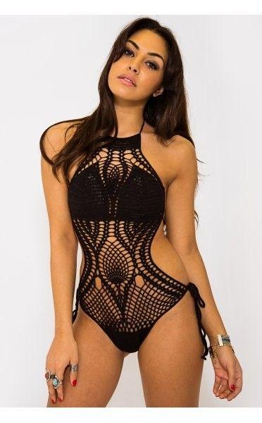 #black #crochet #monokini | www.ustrendy.com