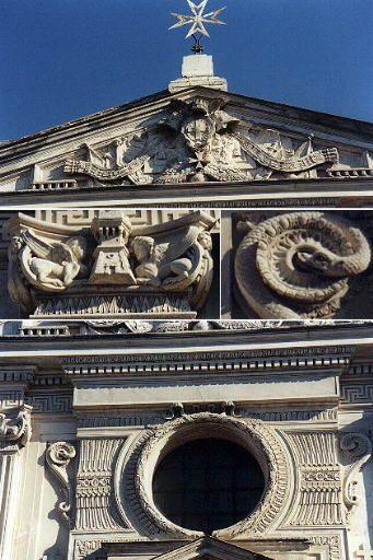 Церковь Санта-Мария-дель-Приорато. Деталь фасада.