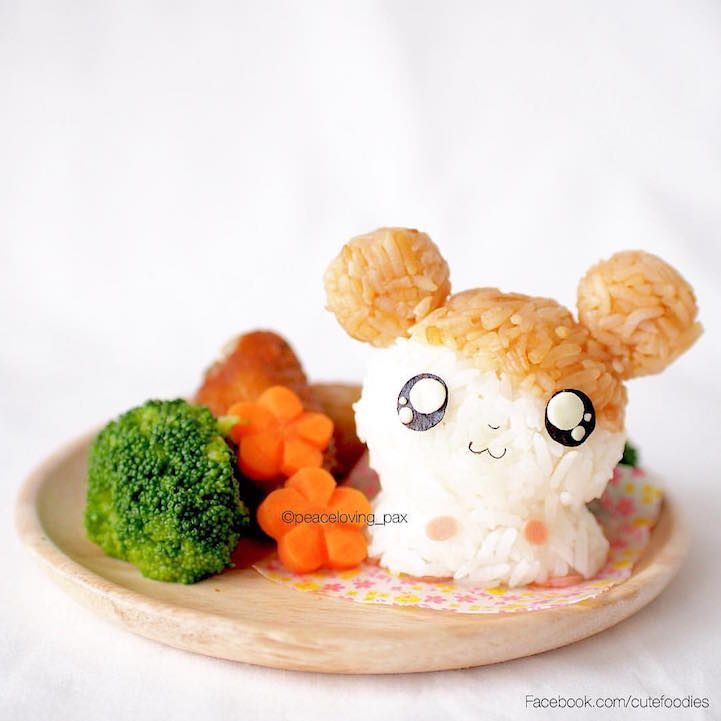 Doctor Sculpts Rice into Adorably Colorful Characters to Dazzle Everyday Bento Boxes - My Modern Met