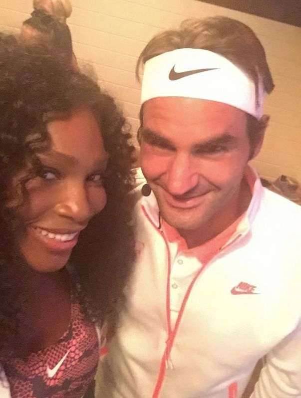 #Legends Rena & Roger - nike NYC street tennis ---- Serena Williams' Most Iconic On-Court Looks | Via Complex  trib.al 8/2015