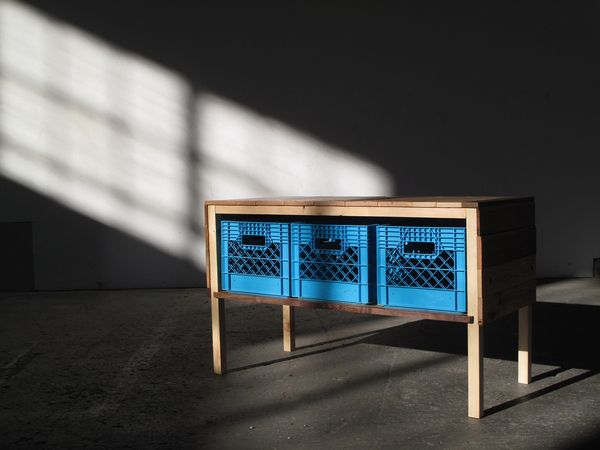The Cheapest Furniture Around: Milk Crates