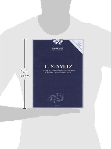 Stamitz: Concerto No. 3 in B-Flat Major: Clarinet and Piano Reduction (Dowani Book/CD)