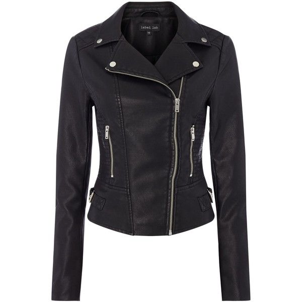Label Lab Emi Pu Biker Jacket ($90) ❤ liked on Polyvore featuring outerwear, jackets, women coats & jackets, faux-leather moto jackets, pu jacket, biker jacket, zipper jacket and summer motorcycle jacket