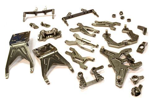 Integy Complete Suspension Kit for 1/10 Traxxas Slash 2WD T8676GREY
