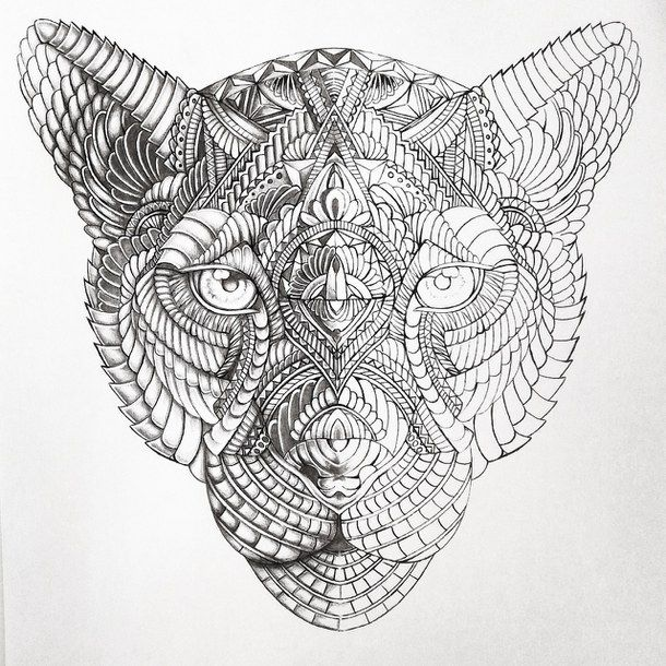 Art Drawing Eyes Henna Mandala Tattoo Tiger