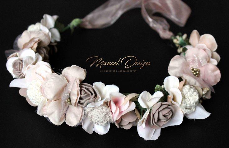 Monart Design, www.monartdesign.hu wedding flower, artificial headpiece, crochet flowers