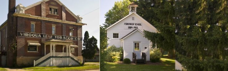 Wisconsin historic landmarks in the Driftless area abound across Crawford & Vernon Counties & Kickapoo Valley; explore preservation & restoration efforts.