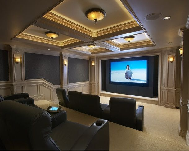 This is pretty formal for a movie room, but I still like the room itself. Just not for a theater.