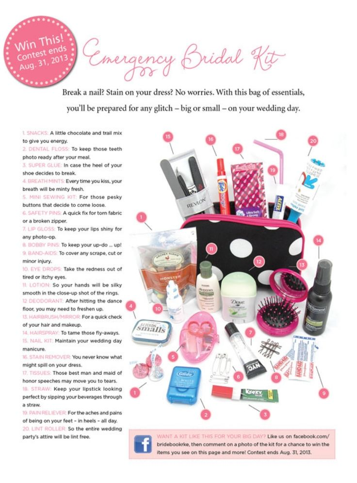 Top 10 DIY Wedding Day Emergency Kits - Top Inspired