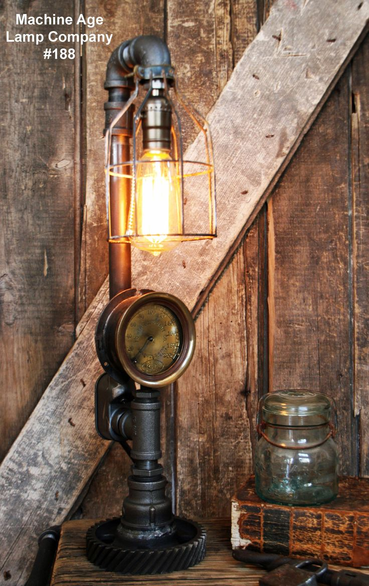203 best machine age lamp company images on pinterest machine steampunk lamp steam gauge and gear base 188 sold greentooth Gallery