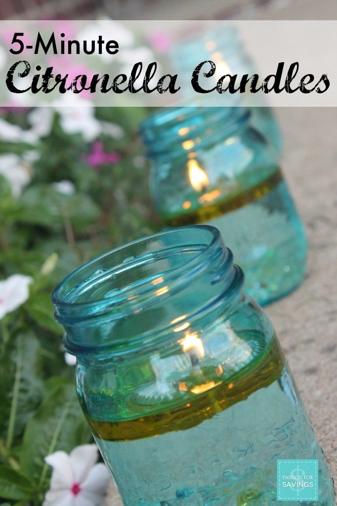 How to make Citronella Candles with Young Living Oil - These literally take less than 5 Minutes! So Easy and they really work!