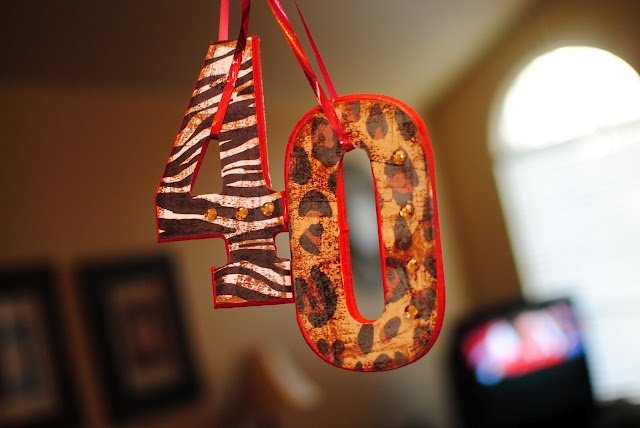 Easy to make 40th birthday decorations