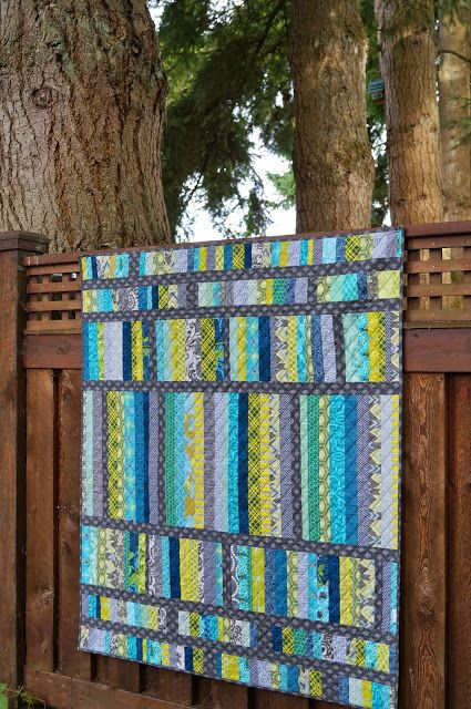 Scrap Attack Quilt | Hilltop House Creative Works (quilted with a simple diagonal crosshatch )
