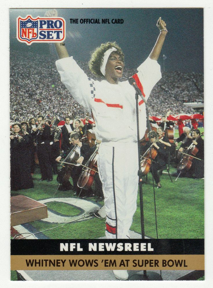 Whitney Houston # 350 - 1991 Pro Set Football