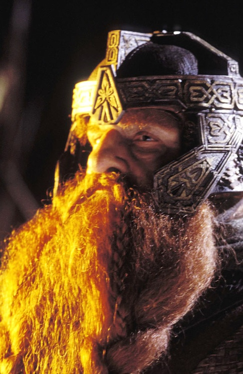 "The Fellowship: GIMLI. ""Faithless is he who says farewell when the road darkens."""