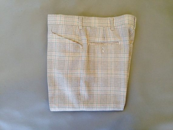 Vintage Men's 1960's 1970's Plaid Slacks Pants by fourBvintage, $48.00