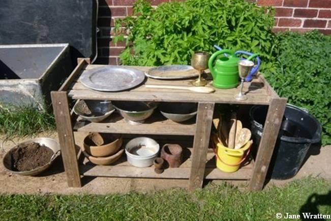 mud kitchens: why they are important, things to consider in making one and a list of books to read to little ones
