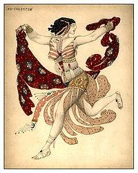バレエ・リュス_衣装 : レオン・バクスト[ 高彩度色、金色、非西欧的色彩、スラブ色...]
