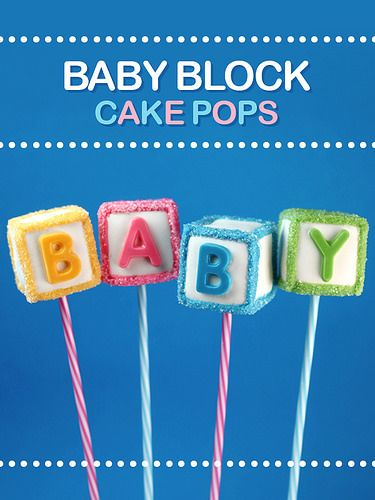 Baby Block Cake Pops | Flickr - Photo Sharing!