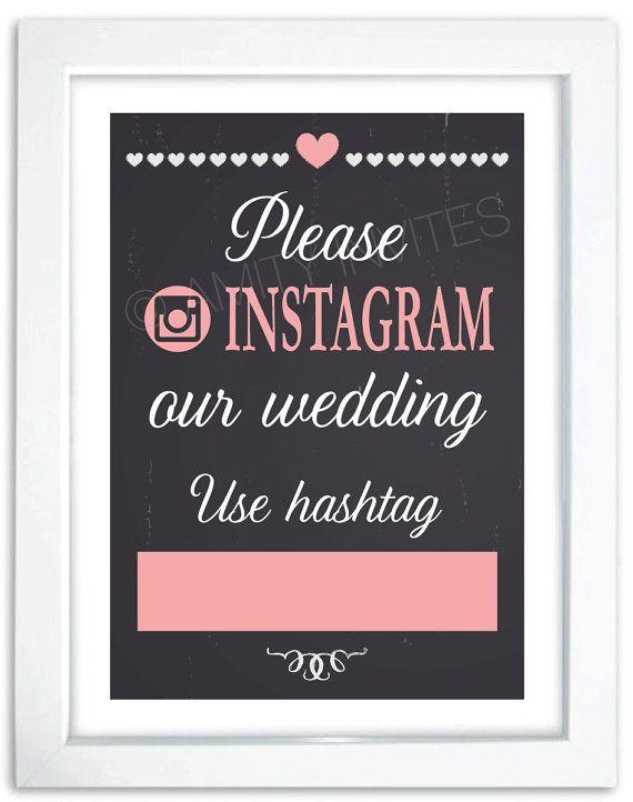 Instagram Sign for Wedding Chalkboard Generic by AmityInvites